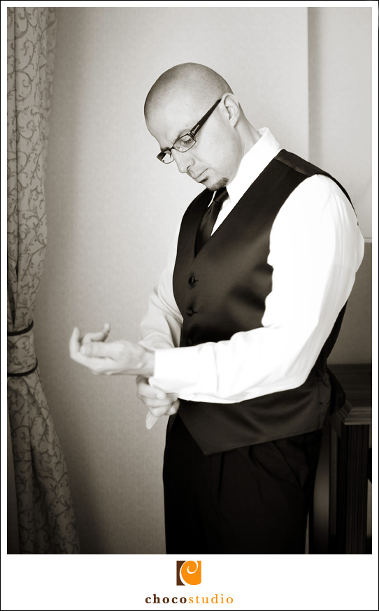 Aref, groom getting ready