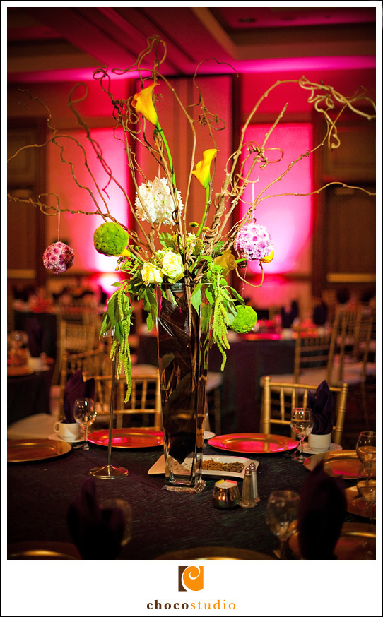 Reception table decorations flower centerpiece