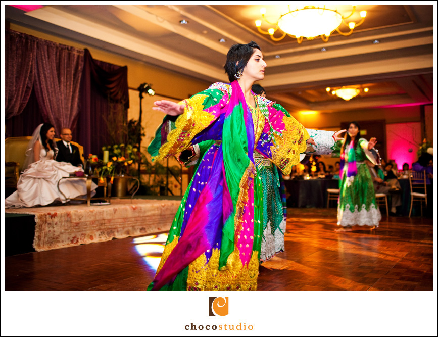 Traditional Afghan wedding dancing