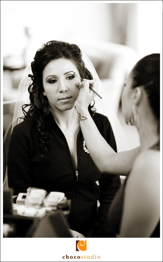 Maira, bride getting ready