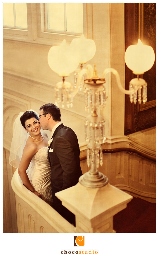 Zahra and Ryan at Ralston Hall in Belmont