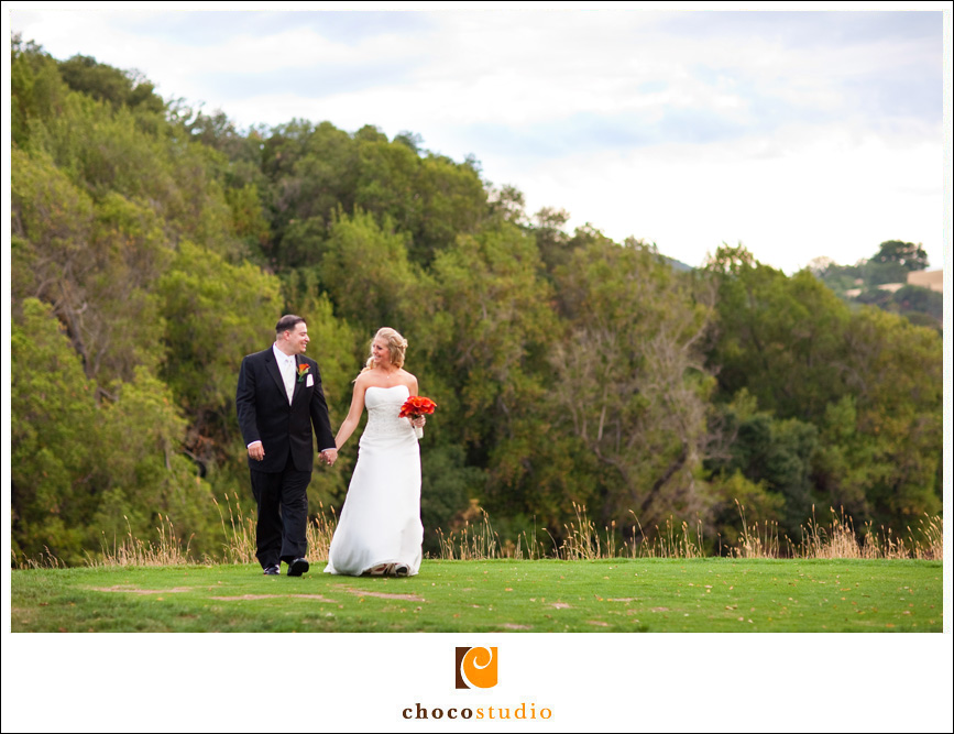 Bride and Groom Portrait at the Golf Club