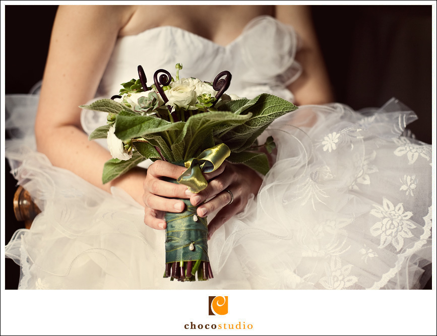 Bride with Bouquet at Ralston White Retreat