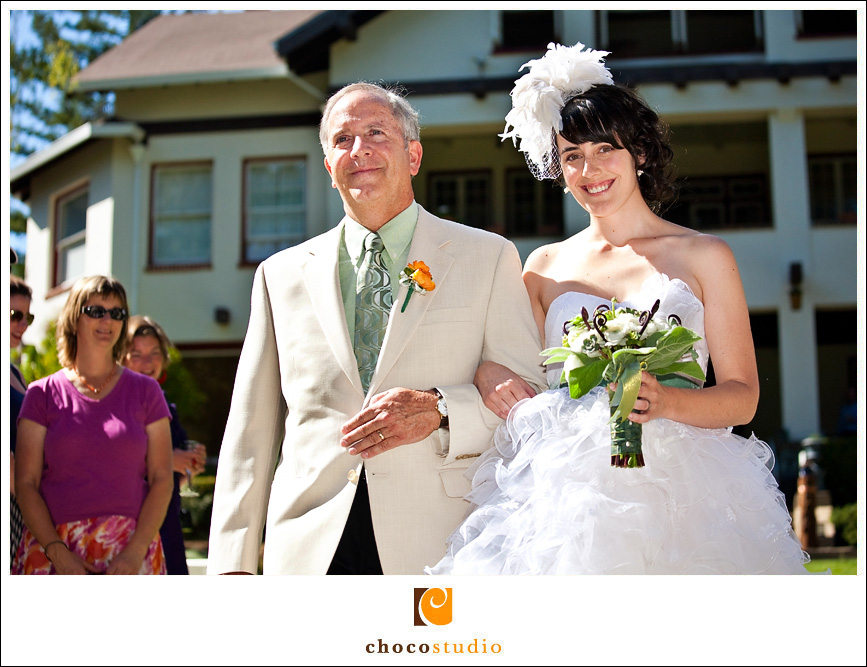 Bride with Father walking down the isle