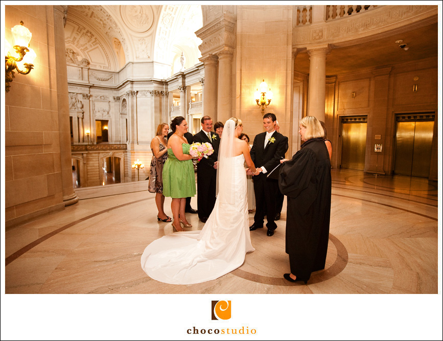 San Francisco City Hall Wedding Ceremony in the Rotunda