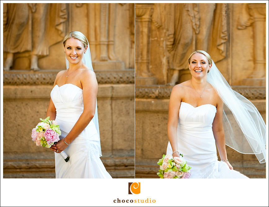 San Francisco Palace of Fine Arts Wedding Bride