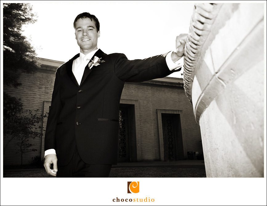 San Francisco Palace of Fine Arts Wedding Groom