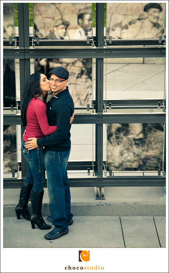 Creative and Original photos of an engagement session in San Francisco