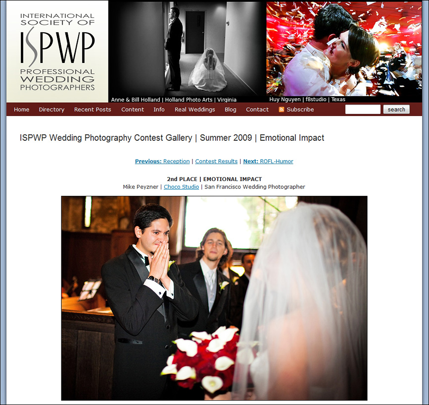 Winner of ISPWP Contest for Emotional Impact