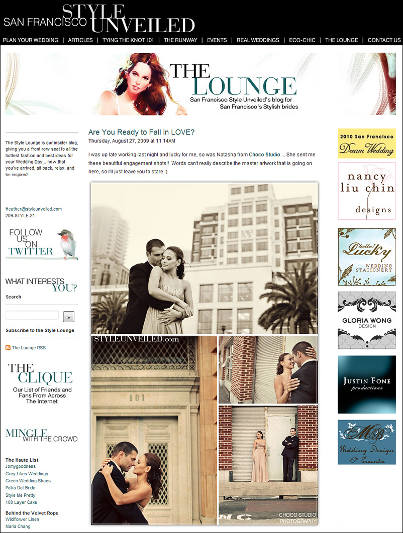 San Francisco Engagement Photos Featured on Style Unveiled