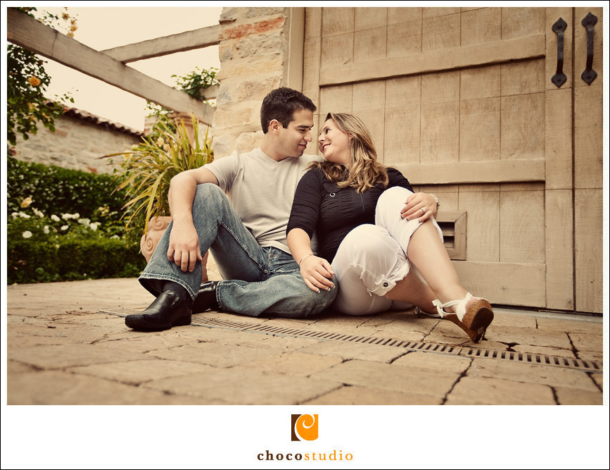 A photo from an engagement session at Carmel