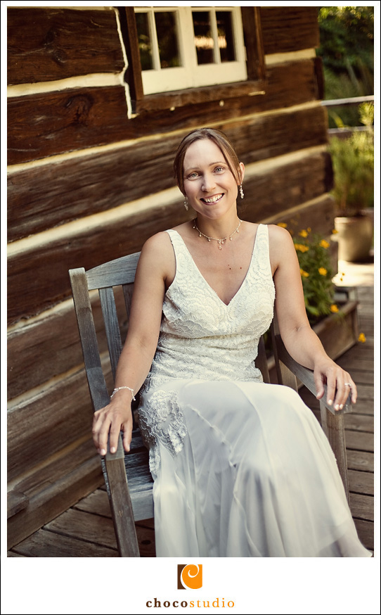 Photo of Bride on wedding day in Woodside