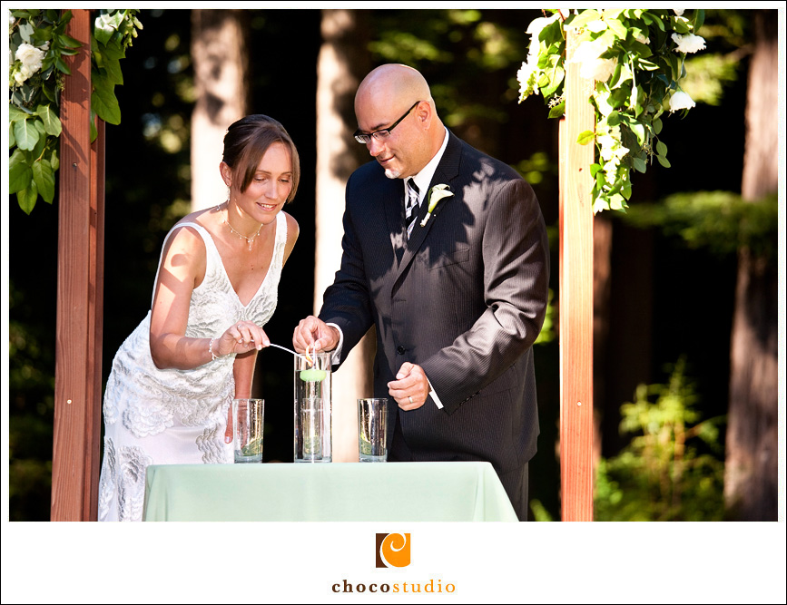 Candle ceremony wedding photo
