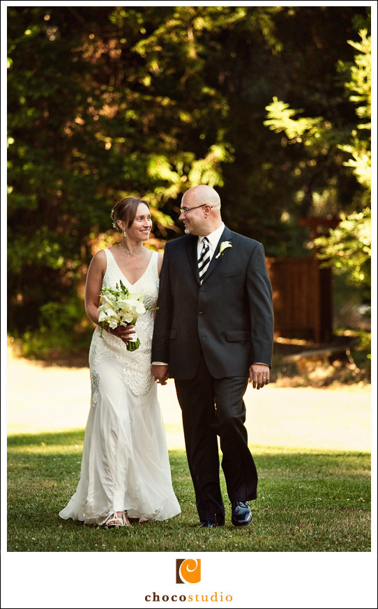 Wedding photo of a bride and groom in Woodside