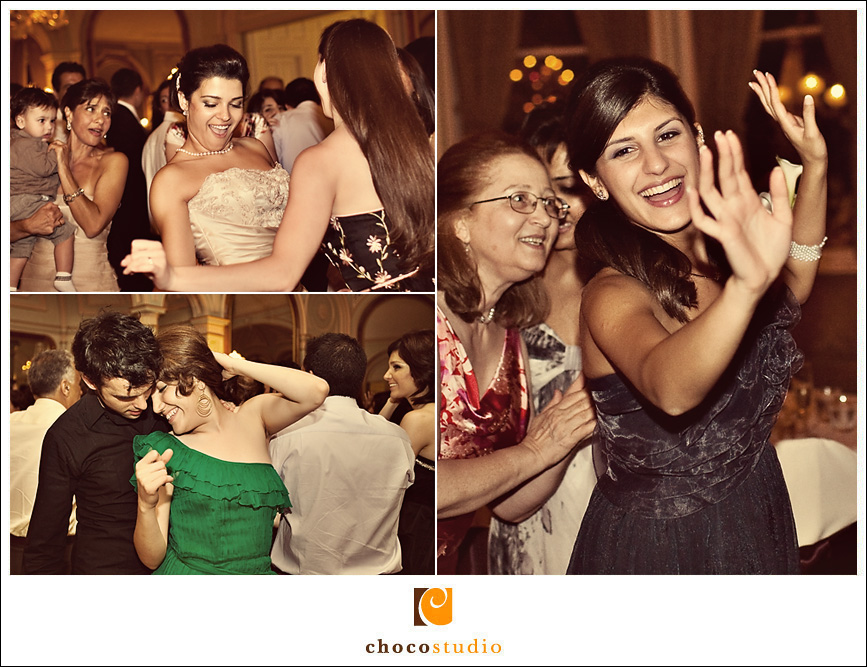Guests dancing in Persian wedding reception photos
