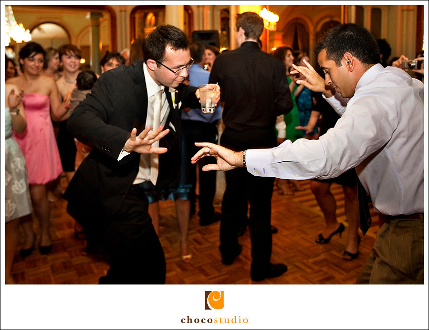Dancing at a weding reception