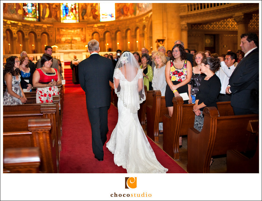 Stanford Memorial Church Wedding Photo Processional