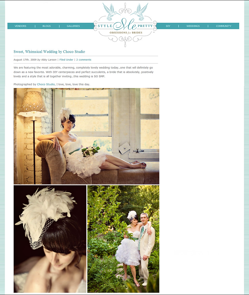 Choco Studio wedding featured on Style Me Pretty