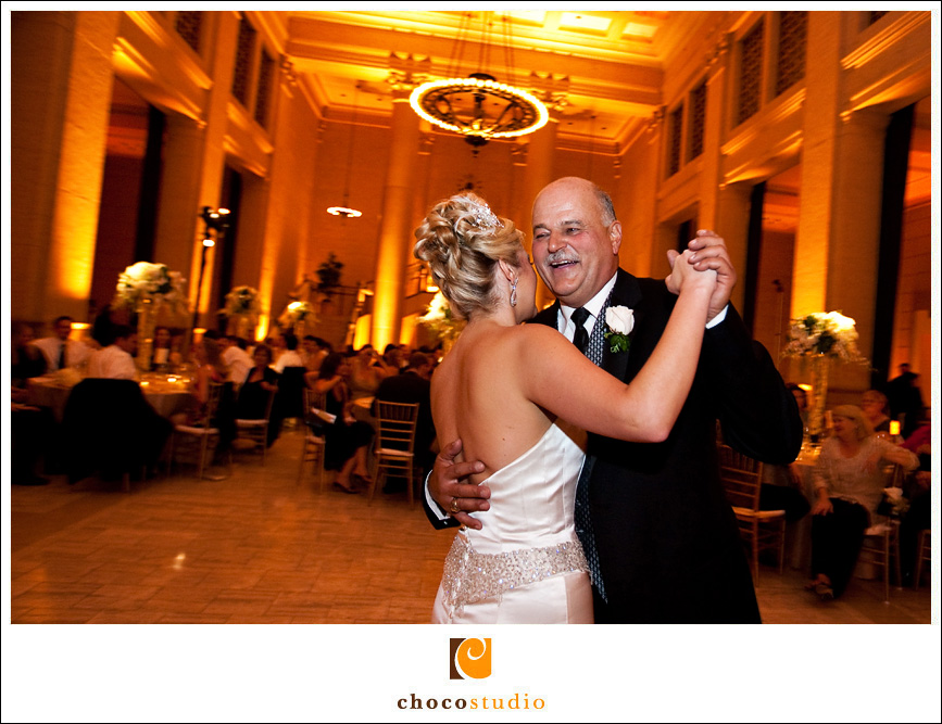 Bride Dancing with Dad During the Father-Daughter Dance