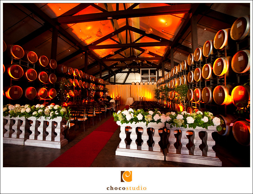 Cellar room during a wedding ceremony
