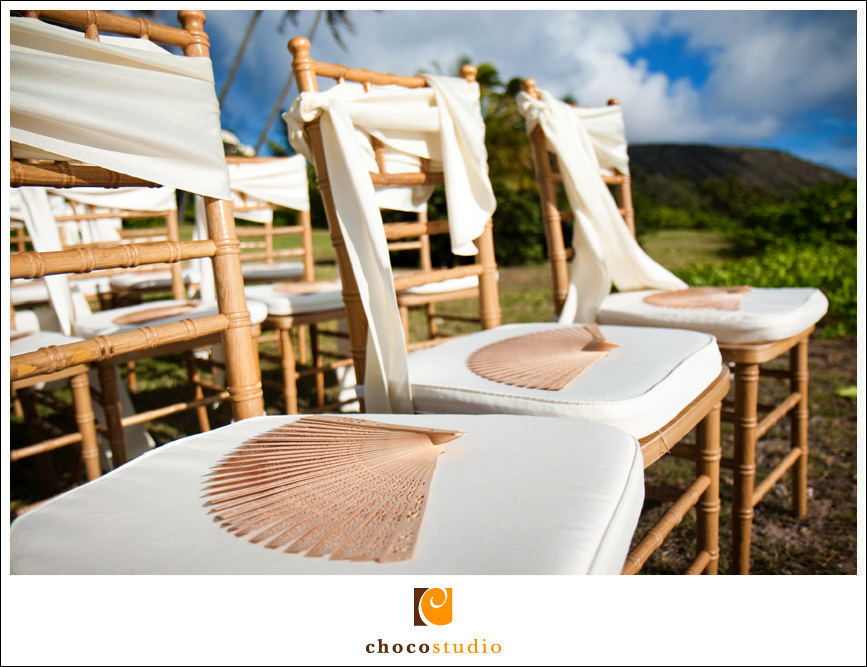 Destination Wedding Photographer photo of ceremony chairs