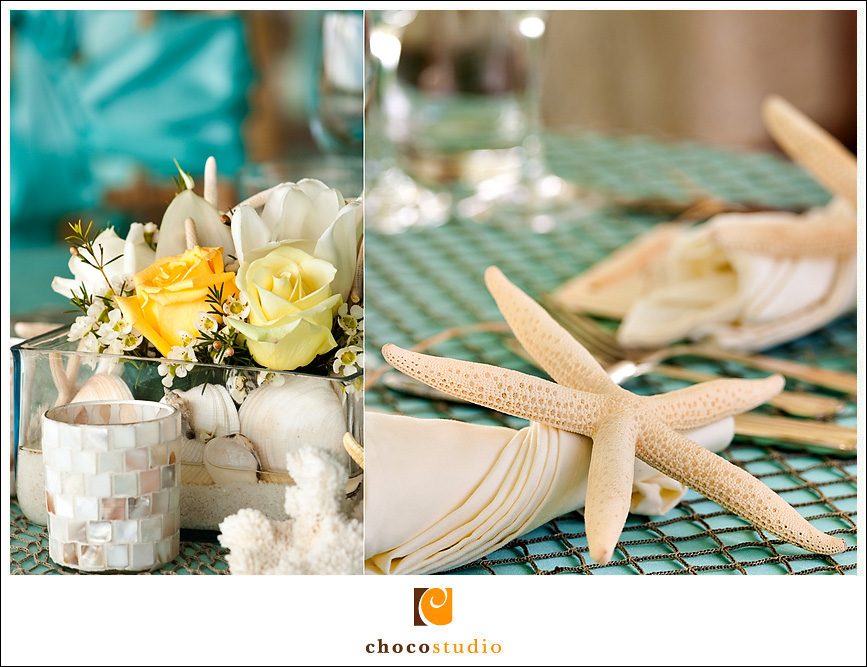 Seashell Table Decorations Photo at a Wedding