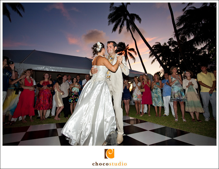 Reception Dancing Bride and Groom