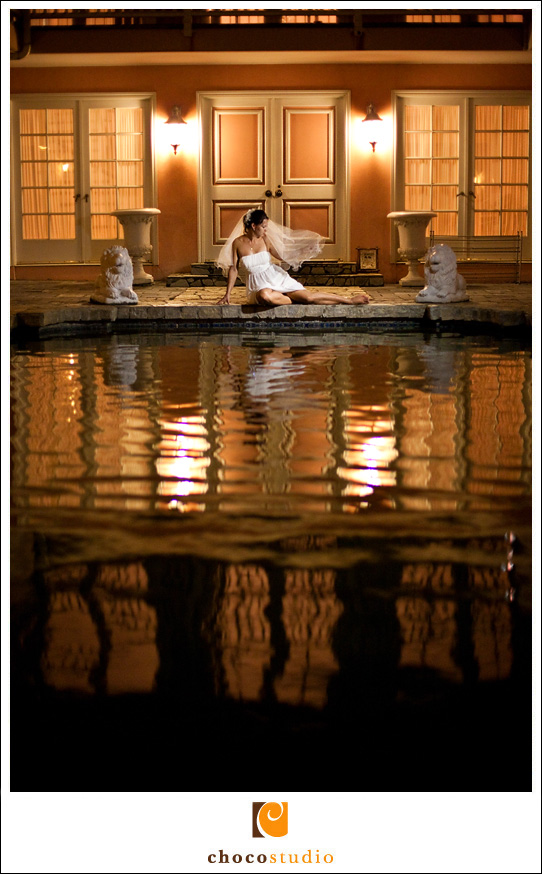 Low light photograph of a bride at a Destination Wedding
