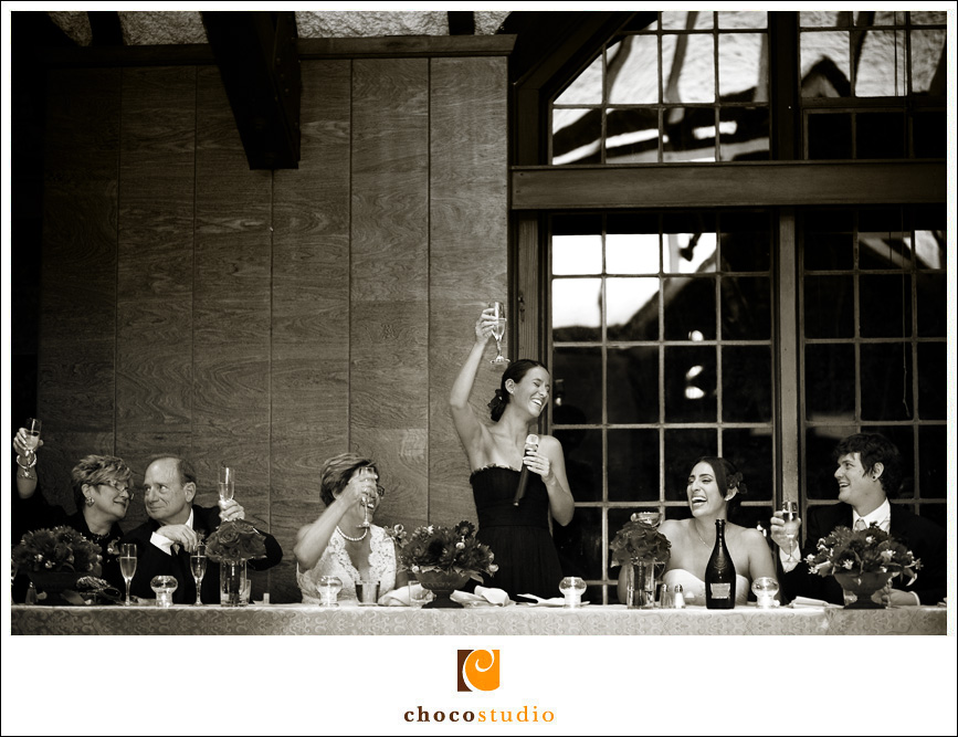 emotional toast by the maid of honor