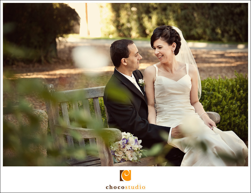 Bride and Groom photo at San Mateo Central Park
