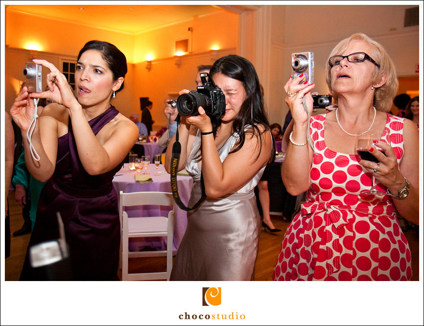 Guests with cameras
