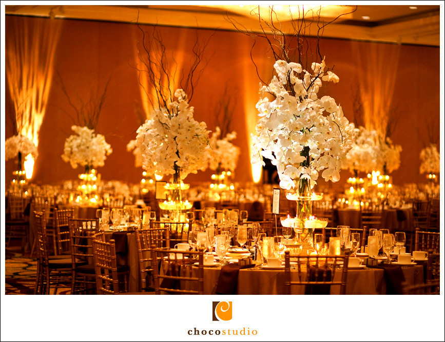 Reception Details inside the Grand Hyatt in Burlingame