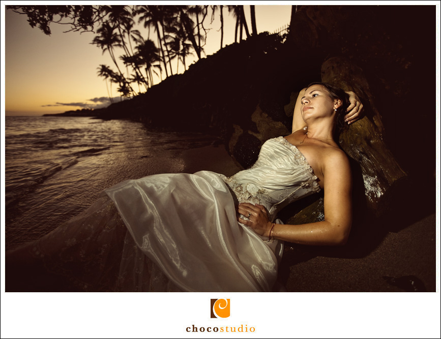 Sunset Bride in Hawaii
