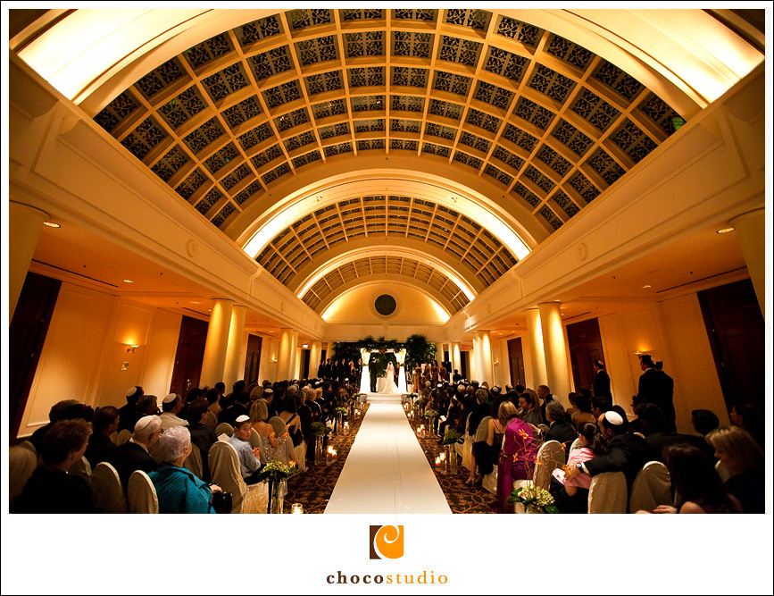 Ceremony at the Palace Hotel Wedding