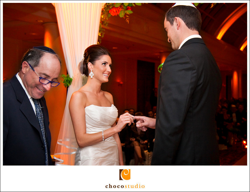 Chuppah ceremony in the Sunset Court