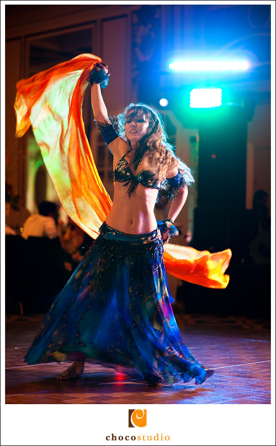 Belly Dancer at wedding reception