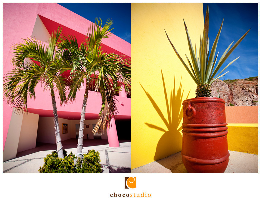 Vivid tropical colors at the Westin Los Cabos Hotel