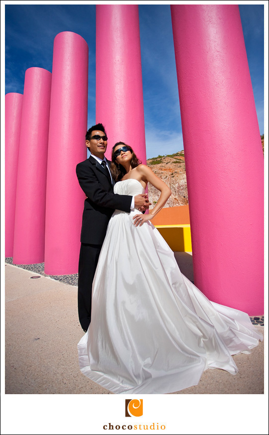 Sunny Mexico Destination Wedding Portrait