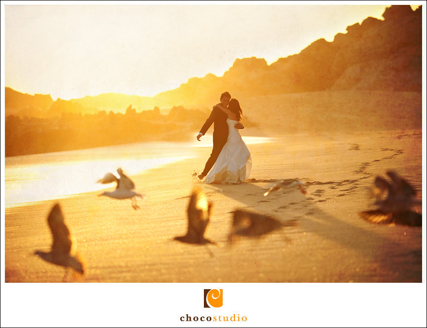 Sunset Destination Wedding Photo