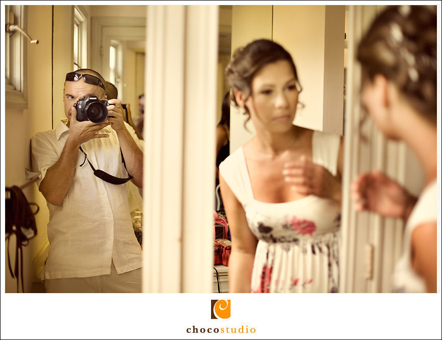 Shooting the wedding preparation photos