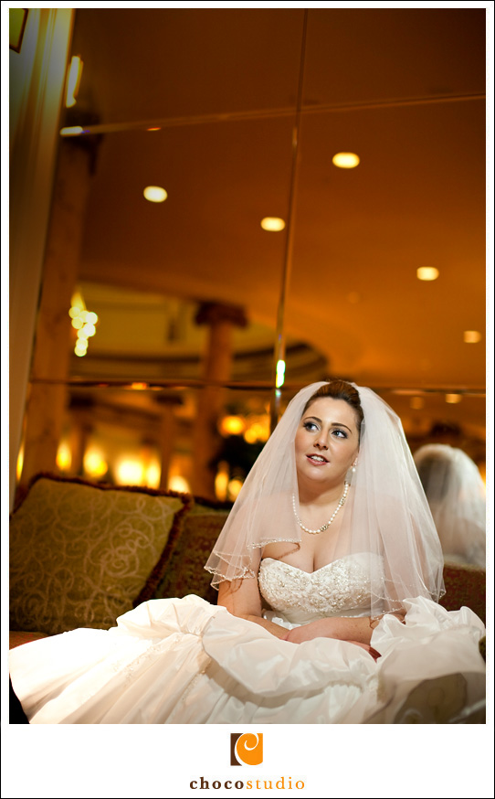 Photo of Bride at Mark Hopkins Hotel