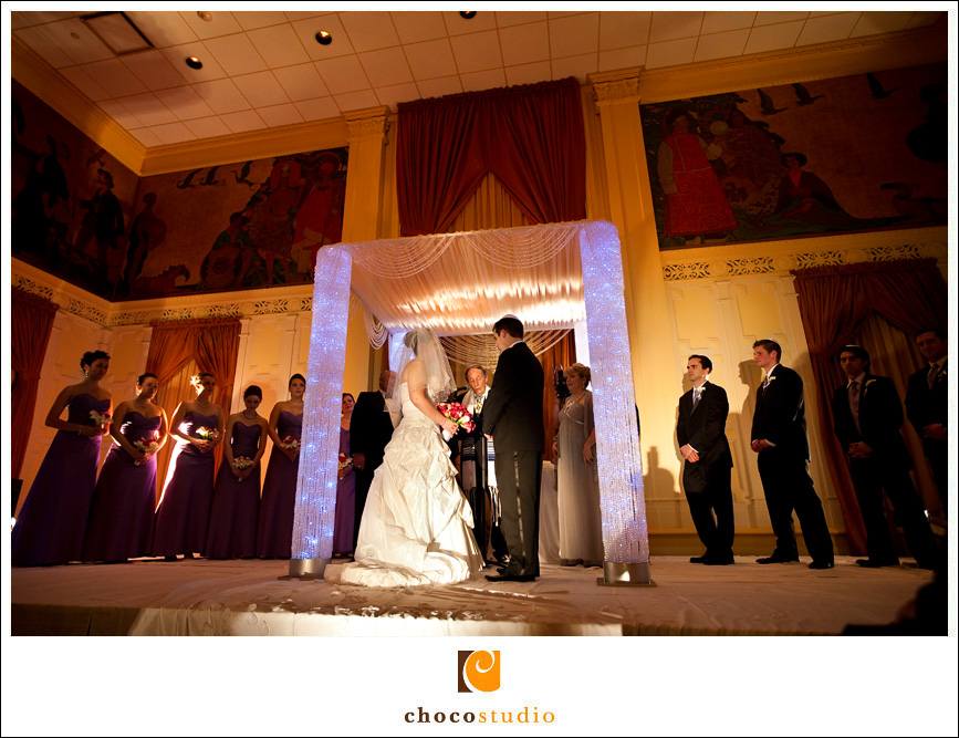 Chuppah wedding ceremony at Mark Hopkins Hotel