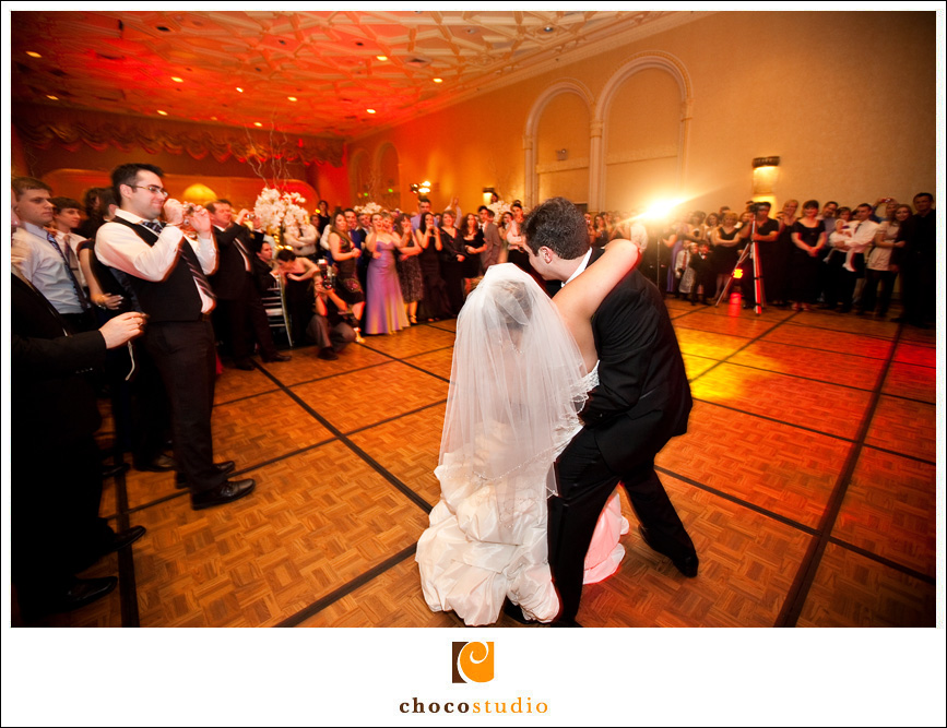 First Dance at reception at Mark Hopkins