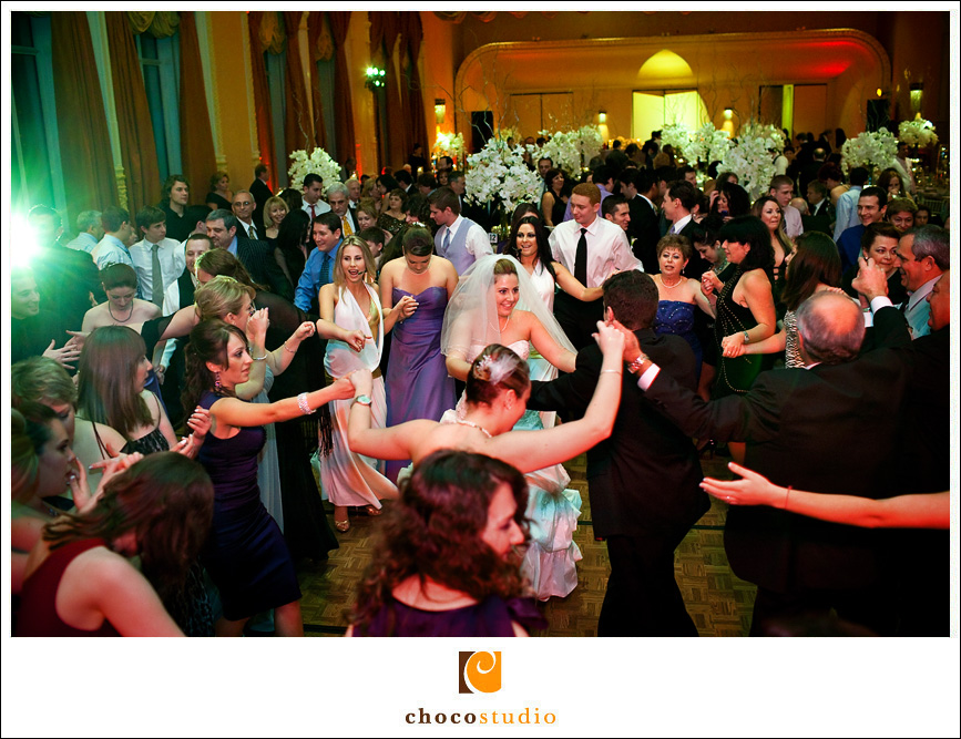 Mark Hopkins Hotel fun wedding reception