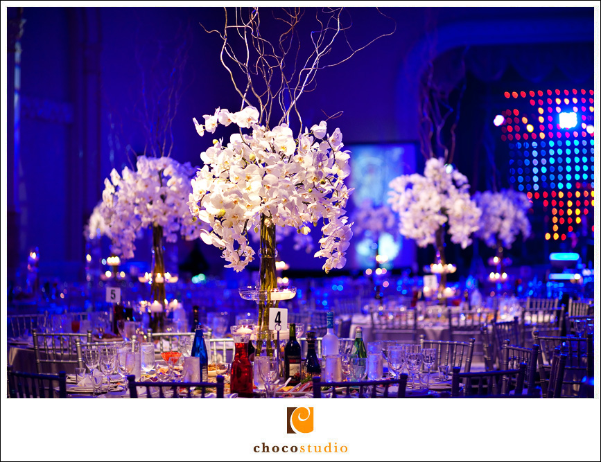 Ballroom centerpieces at Mark Hopkins