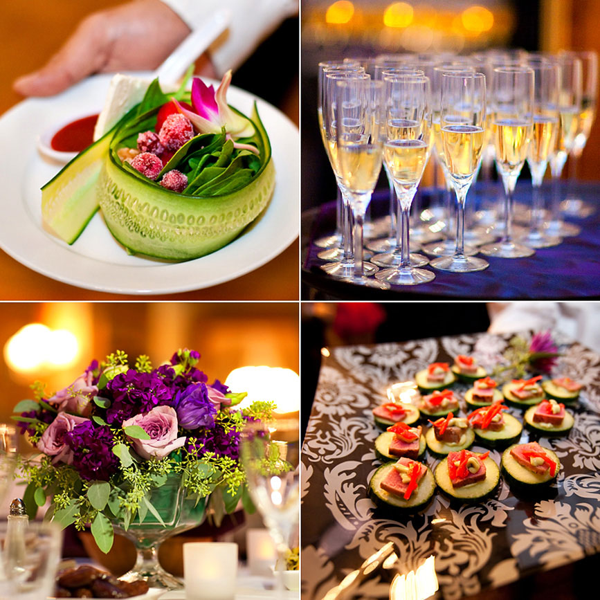 Beautiful reception food
