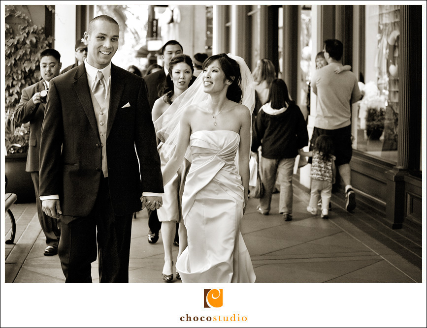 Santana Row Wedding Photo