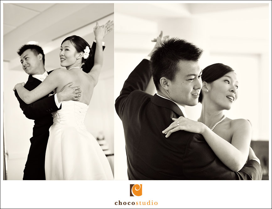 Wedding Photo of First Dance at the HK East Ocean Restaurant