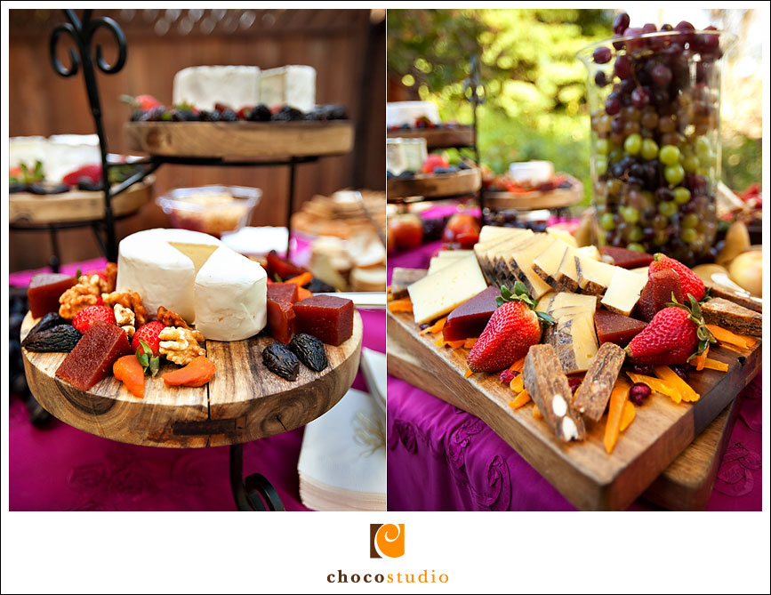 Cheese table reception catering