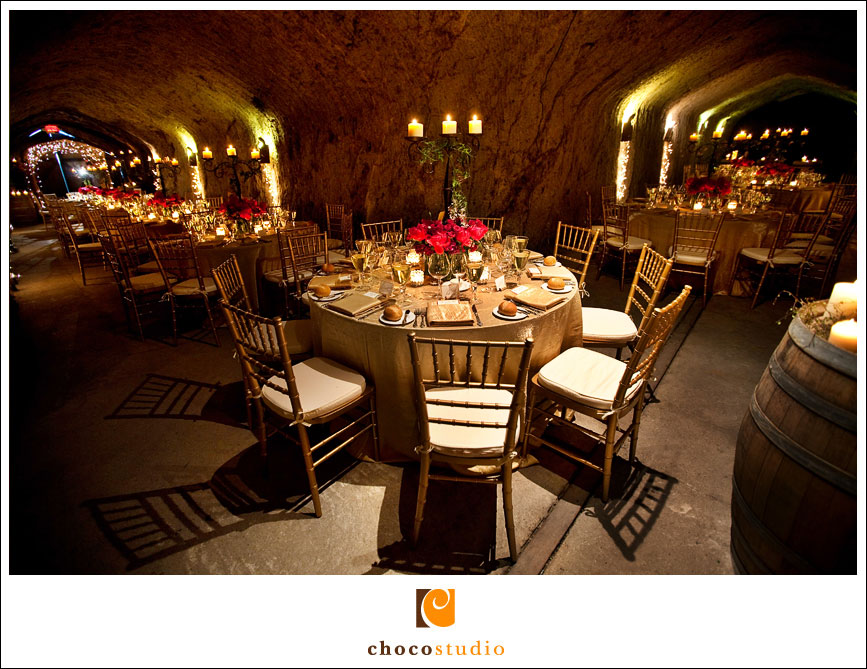 Candlelit Volcanic Ash Cave Wedding Reception